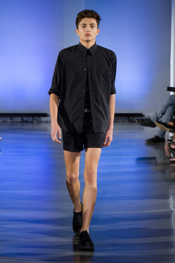 The Ralston Dress Shirt & Alphonse Pleated Trouser Shorts in Black