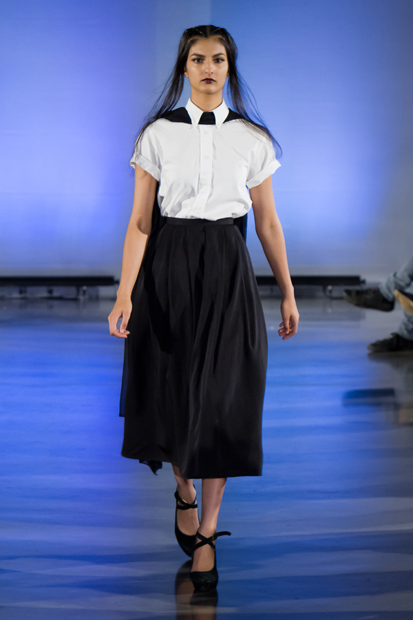 The Lisa Shirt & The Kelly Skirt in Black Silk Grosgrain