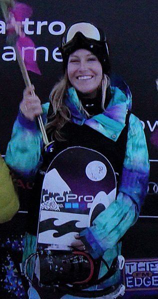 "Source: Wikipedia. Photo Credit: ""Jamie Anderson, winner of the World Cup in slopestyle at Cardrona 2013"" by WinterSportsfan , License"