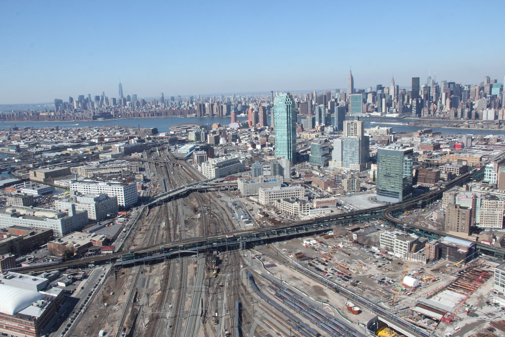 view of Long Island City and East Side Access Project.JPG