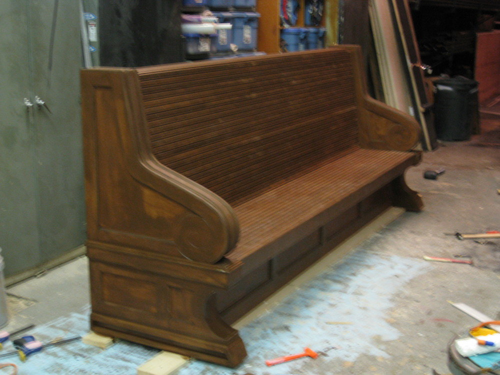 Rail station bench for Port Authority by  Conor McPherson  at the  Atlantic Theater , New York, NY.
