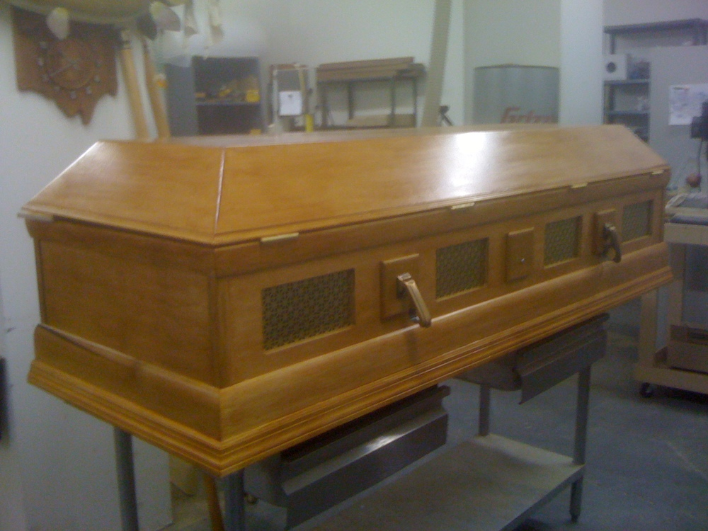 Coffin for City Opera, New York, NY.