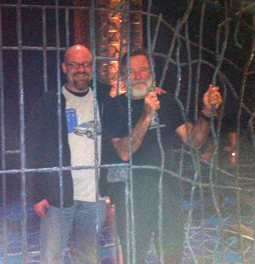 Seán  with Robin Williams on the set of   Bengal Tiger at the Baghdad Zoo  , NYC, 2011.