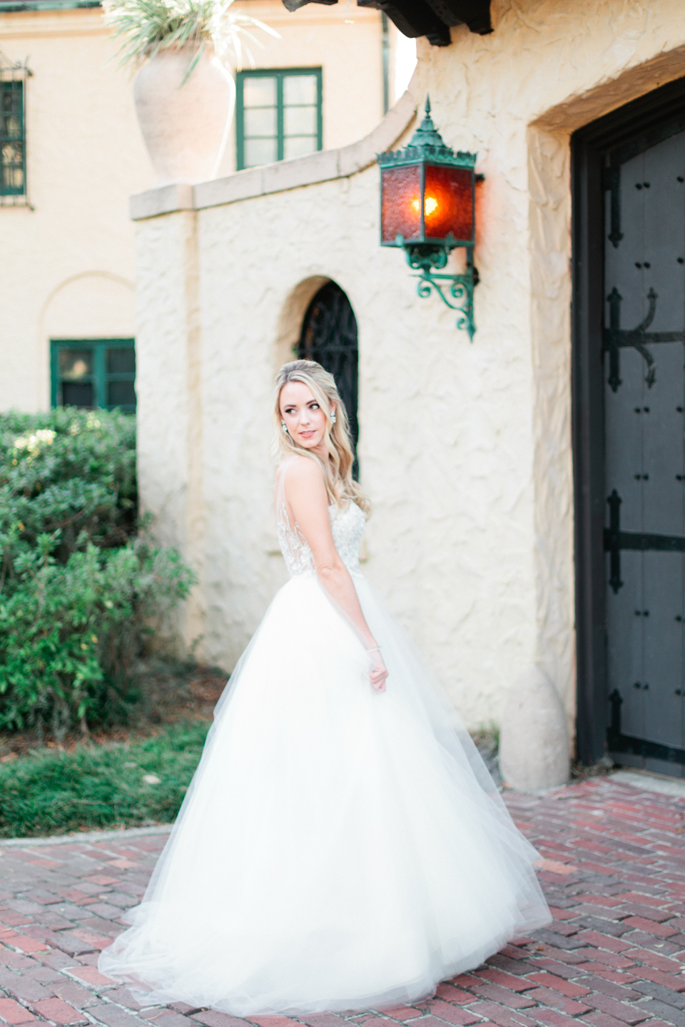 Image of a bride in a Calvet Couture wedding gown at the Epping Forest Yacht Club in Jacksonville, Florida