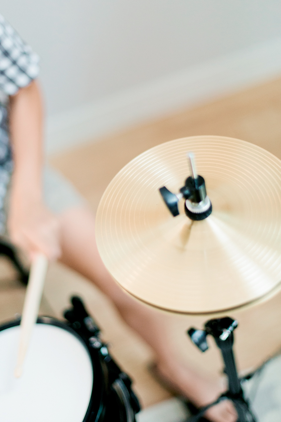 A close up picture of a drum set. | Debra Eby Photography Co.