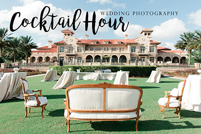How to plan your Cocktail Hour Wedding Photography.  How to break rules to create fun for your guests.  | Debra Eby Photography Co.