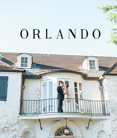 Image of a bride and groom having an estate wedding in Orlando, Florida