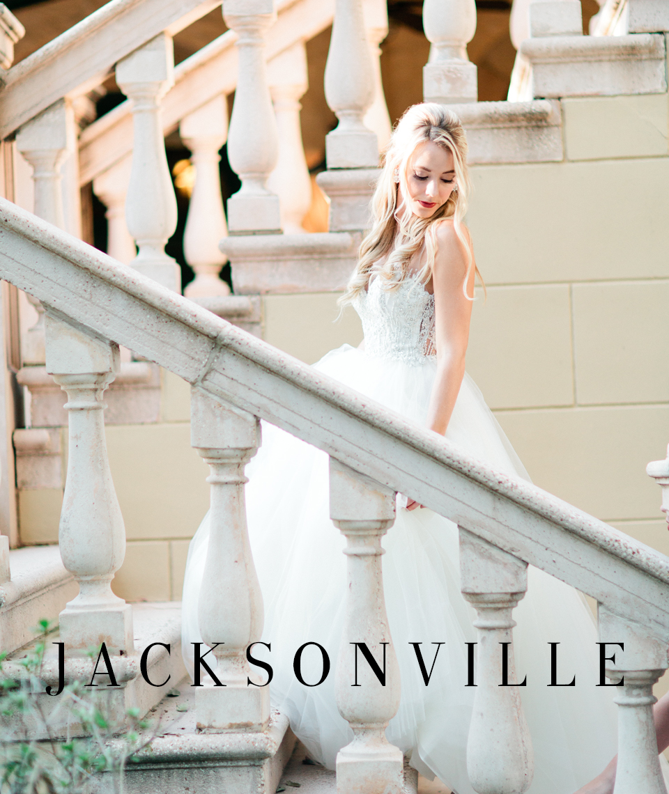 Image of a bride at The Epping Forest Yacht Club in Jacksonville, Florida.