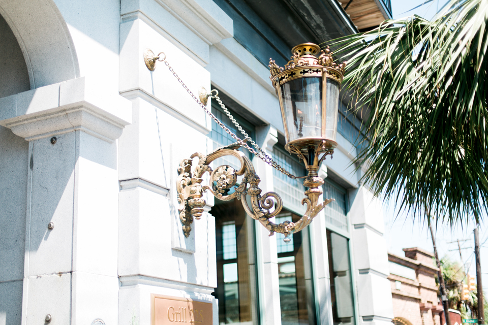 Gilded lampost in Charleston, South Carolina