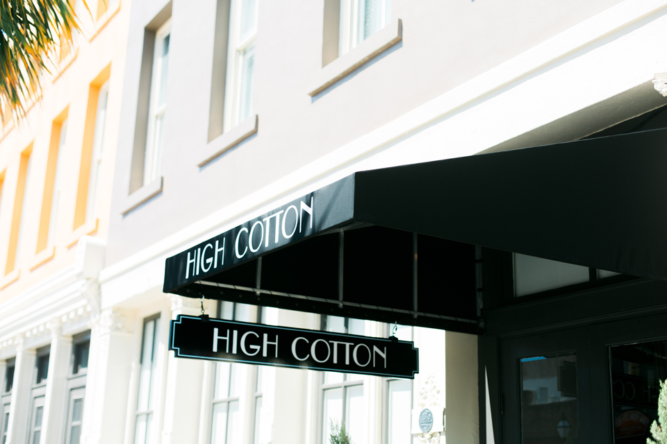 High Cotton restaurant in historic Charleston, South Carolina