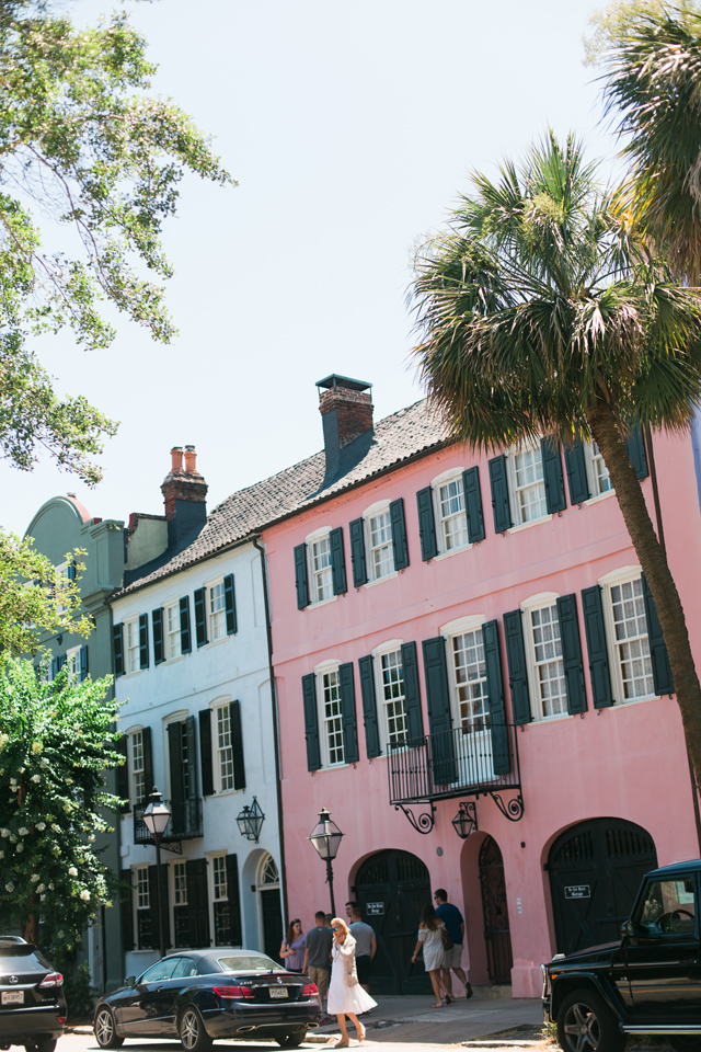 Rainbow Row in historic Charleston, South Carolina