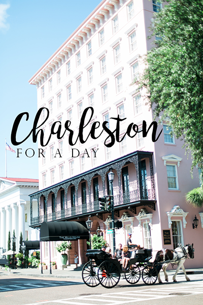 Visiting historic Charleston, South Carolina, for a day