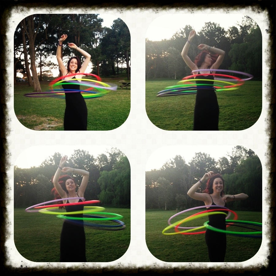 hooping in Centennial Park