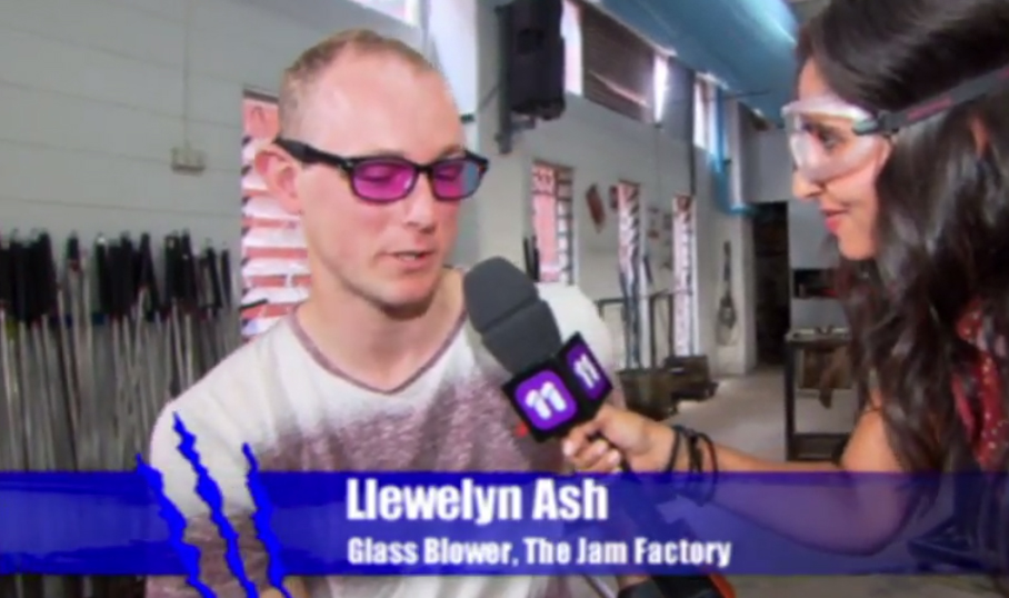 Go to 19.38 if you want to see the glass blowing part, it was so fun being on totally wild
