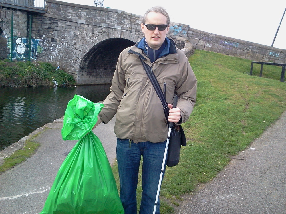 At the canal clean-up last month