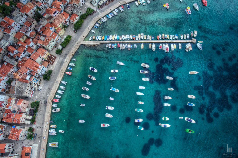 Baška Harbour from above.