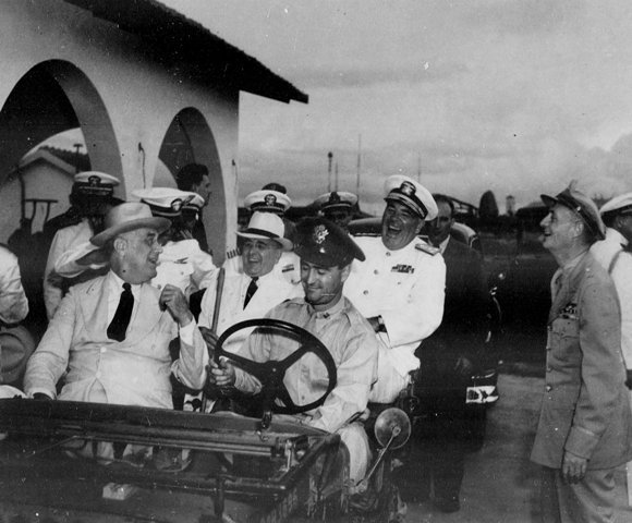 Getulio Vargas and Franklin D Roosevelt in Brazil