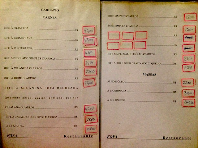 Fofa menu