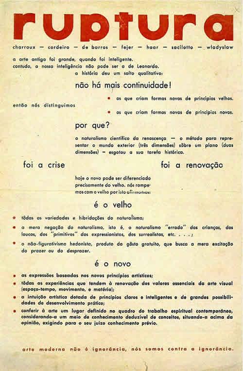 The Grupo Ruptura manifesto