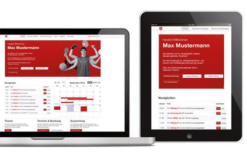 Unser Online-Trainings-Tool in der Beispielansicht. Eine genaue Feature-Übersicht schicken wir Ihnen gerne auf Anfrage zu.