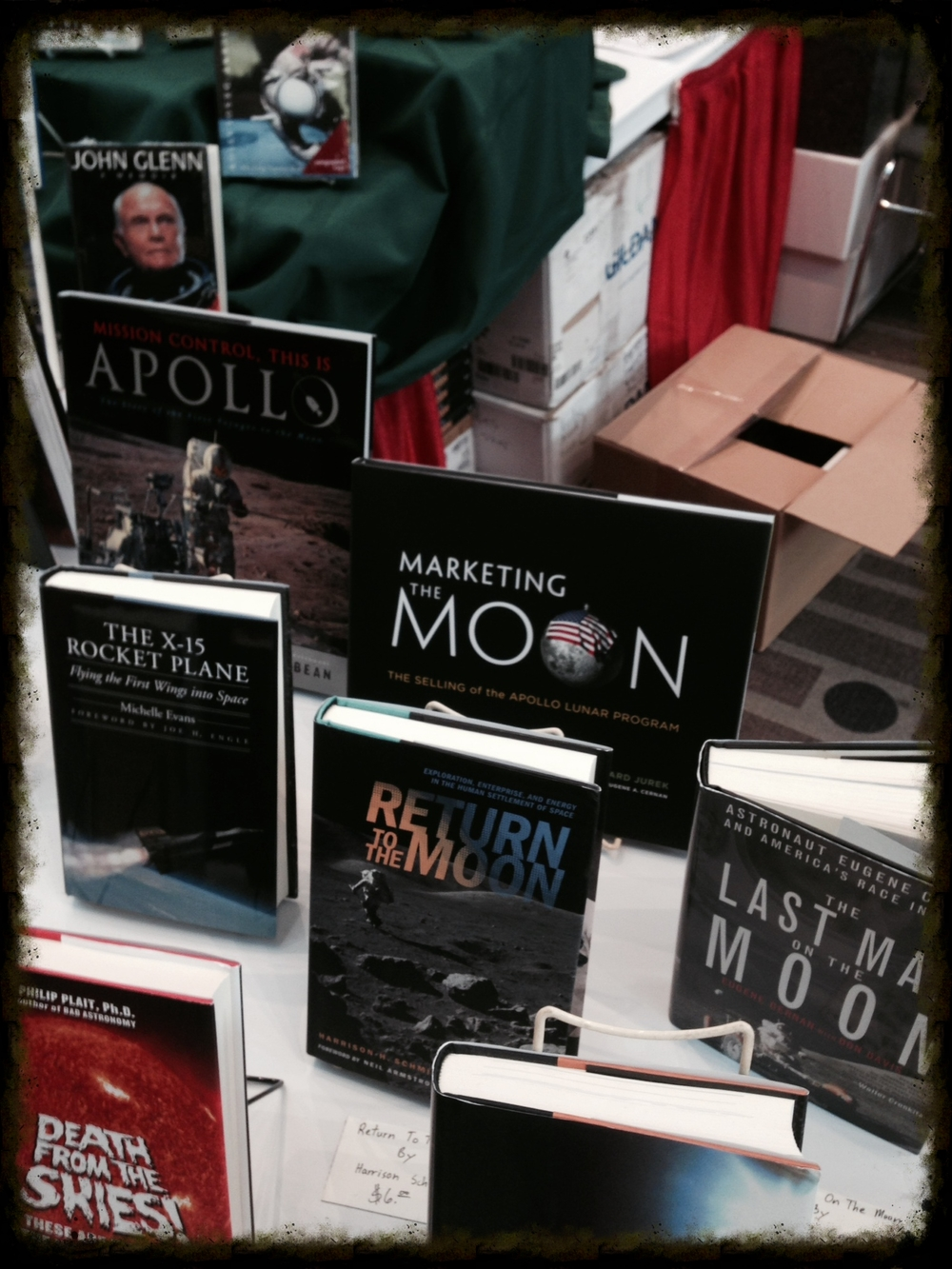 Marketing the Moon on display and for sale at Space Fest VI.