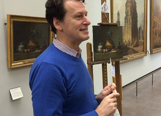 Tom Albers copies Chardin at the Louvre   from Daily Review March 10 2015
