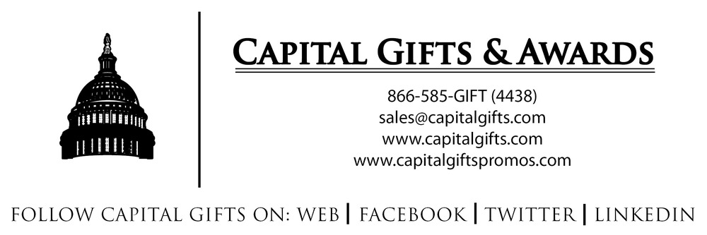 Welcome to Capital Gifts and Awards, your premiere business gift, award, promotional product and corporate apparel company. We are renowned for our unusual gifts, stunning awards and creative presentation; as well as exemplary attention to customer service.  We are founded on over 20 years of experience in enhancing and complementing the business objectives of our clients throughout the world with a wide range of products, brand name merchandise and creative design. We exist to meet your needs, when you want, how you want and within your budget