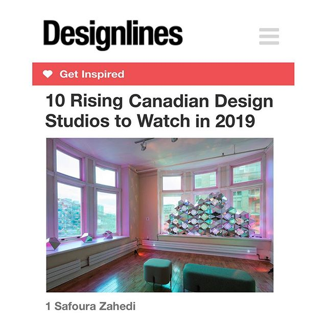 ⁣⁣⁣Thank you @designlinesmagazine! Honoured to be part of your list of 10 Rising Canadian Studios in 2019!⠀ ⠀ 'Connect' will be exhibited at the @gladstonehotel for the rest of 2019!⠀ ⠀⠀ .⠀ ⠀ ⁣Commissioned by @gladstonehotel⠀ ⠀  Sponsored by @ontarioartscouncil @3mcanada @drechselstudio #inpsgroup ⠀ ⠀ ⁣Special thanks to @bradypeters for your generous support! .⠀ ⠀ #designlinesmagazine #azuremagazine #torontolife #dlloves19 #blogto #cutmr2019 @designtofestival #designto #torontoart #torontodesigner #design #architecture #art #sacredgeometry #geometry #geometricabstraction #parametricarchitecture #digitalfabrication #nofilter #designIRL @design @uoftdaniels #uoftalumni @ryersonsid #rsidalumni