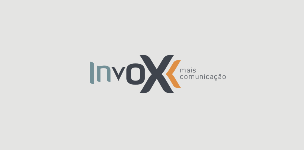 This is the Invox logo I designed I prefer. Bellow you can see the chosen one by the client in few cards options. Also a bit of their Brand Identity Guide