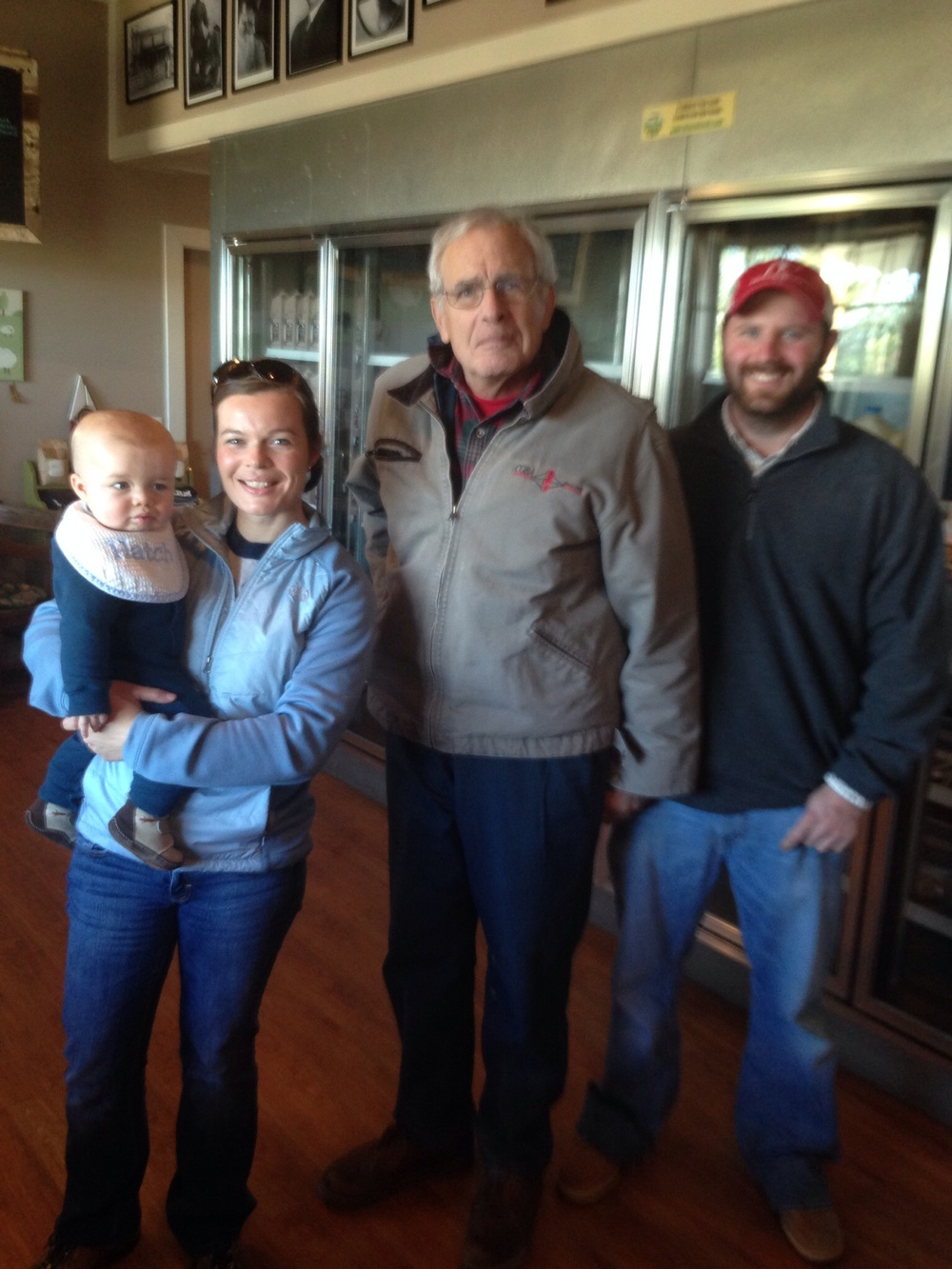 Dr britt has influenced many students: he is pictured here with  Jennifer Hatcher  and  John Laster . Dr. Jennifer also holding Hatcher, her first son and future veterinarian.