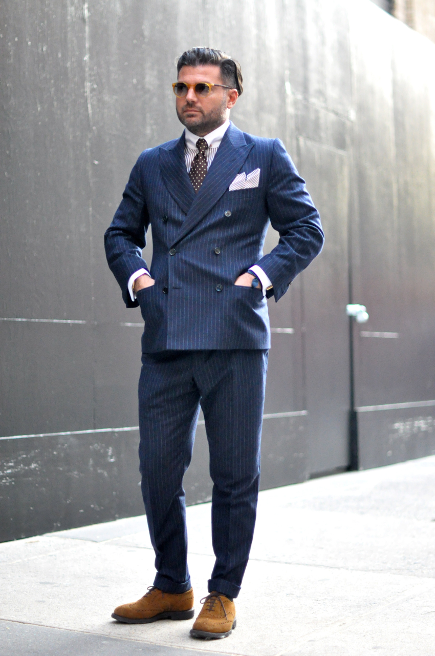 Street Gents | Riccardo Tortato Wears the Double Breasted Suit ...