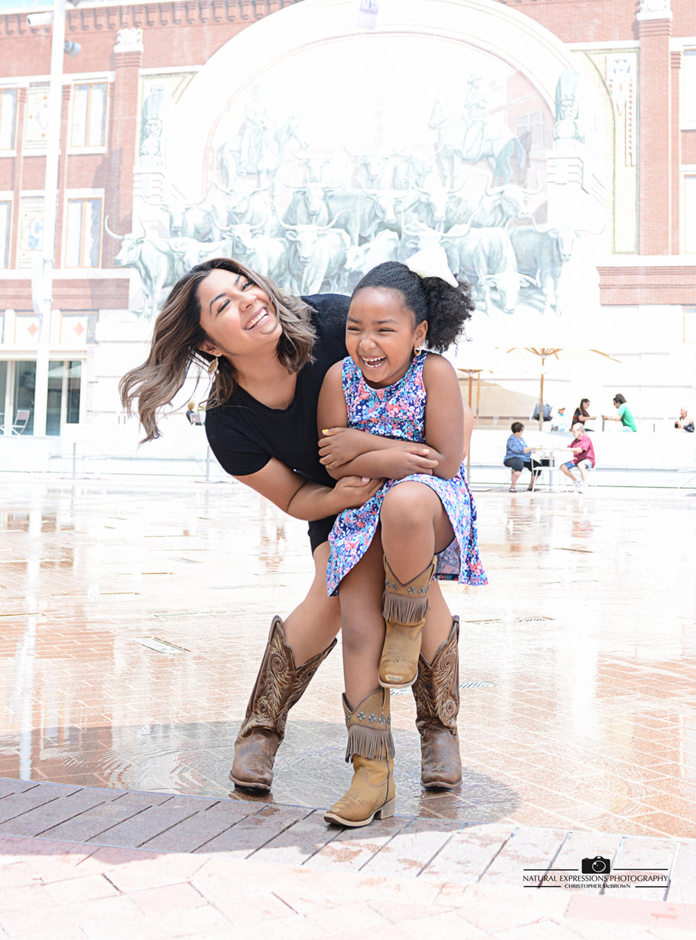 Fort Worth Family Portraits in Sundance Square