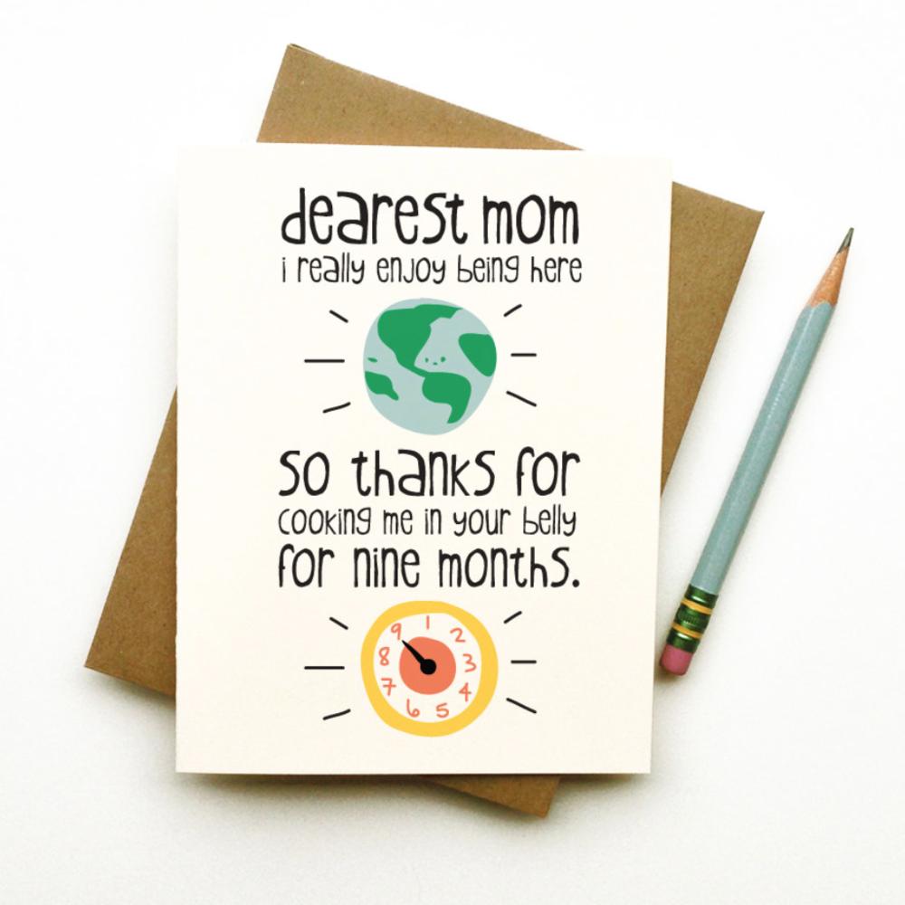 Dearest Mom, I really enjoy...