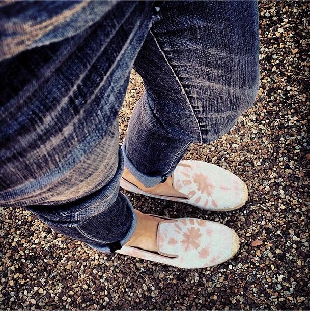 Catt Sadler Cattwalk Espadrilles Flats Elyse Walker Denim Jeans