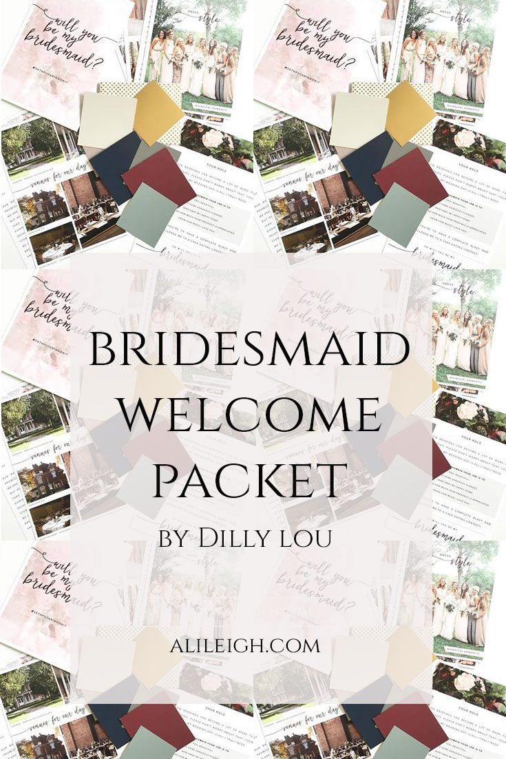 Dilly Lou Bridesmaid Welcome Packet | Wisconsin Wedding Photographer Ali Leigh Photo