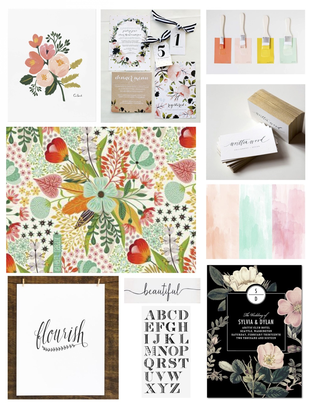 Ali Leigh Brand Inspiration Board by Kenna and Louise