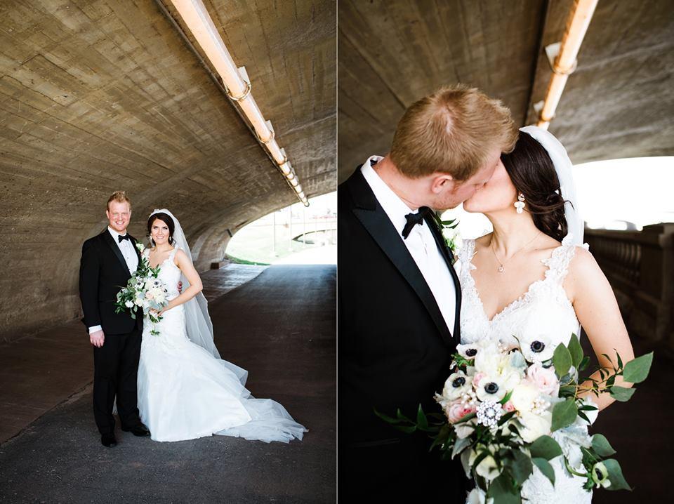 Des Moines Riverfront Wedding Photographer