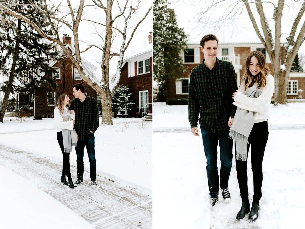 Winter St Paul Engagement Session