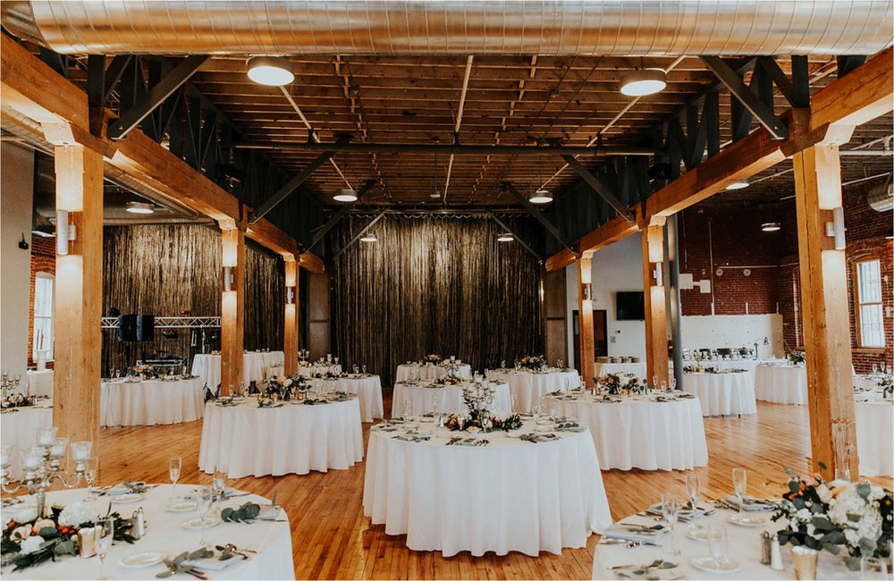 industrial winter wedding reception minnesota