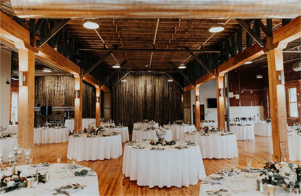industrial winter wedding reception minnesota