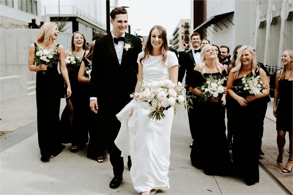 modern st anthony main wedding party photos