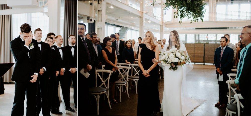 machine shop minneapolis wedding ceremony photos