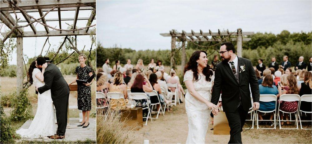 bohemian door county wisconsin wedding