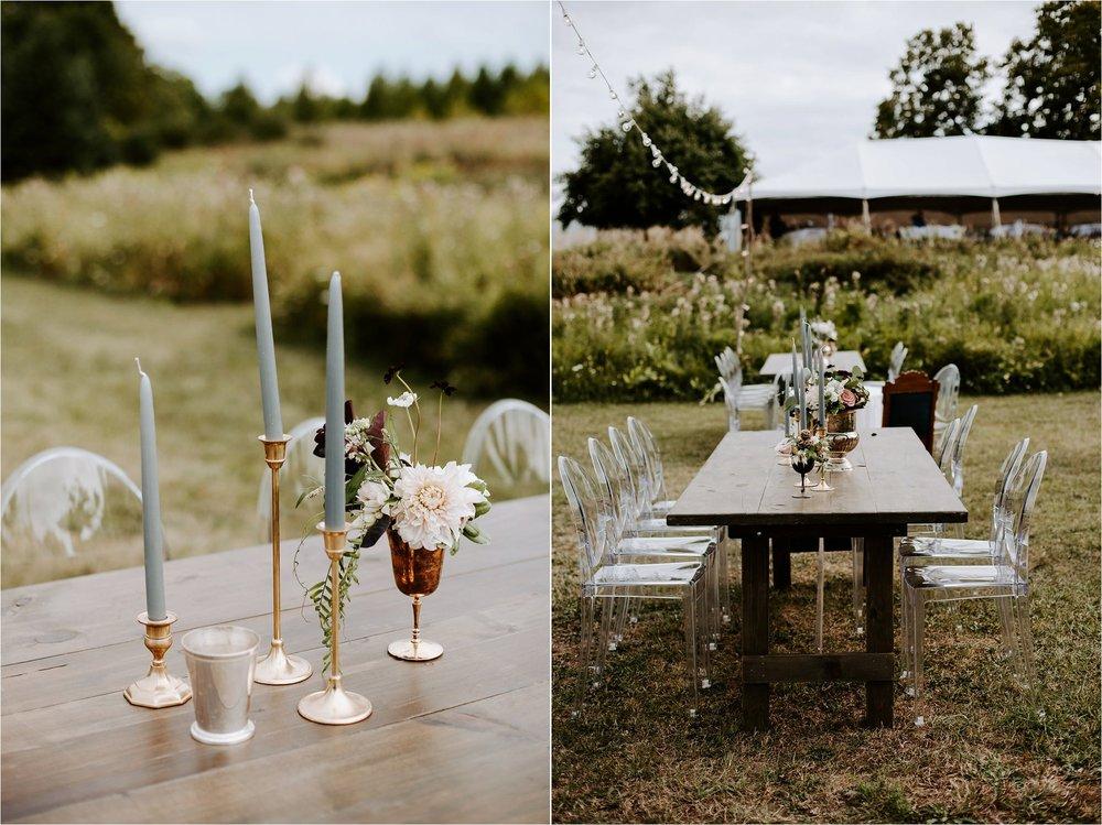 ebb and flow flowers styling door county wedding