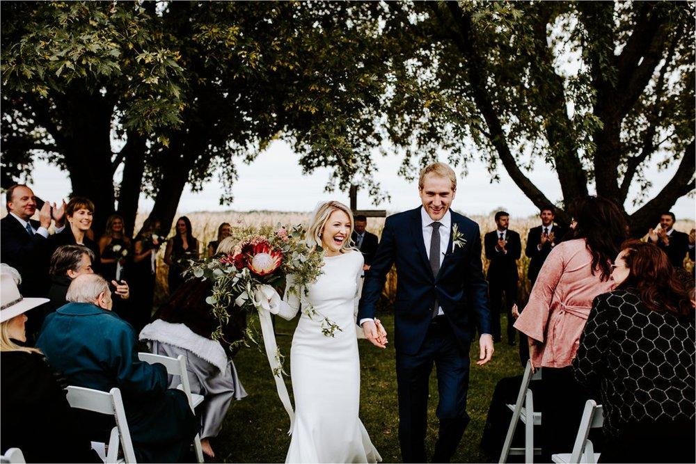 outdoor owatonna minnesota family farm october wedding