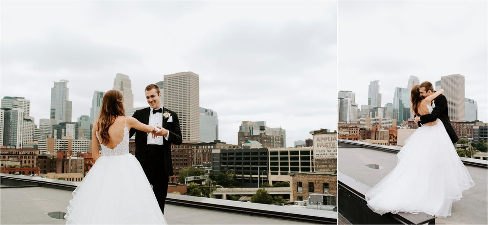 hewing hotel minneapolis wedding photographer first look