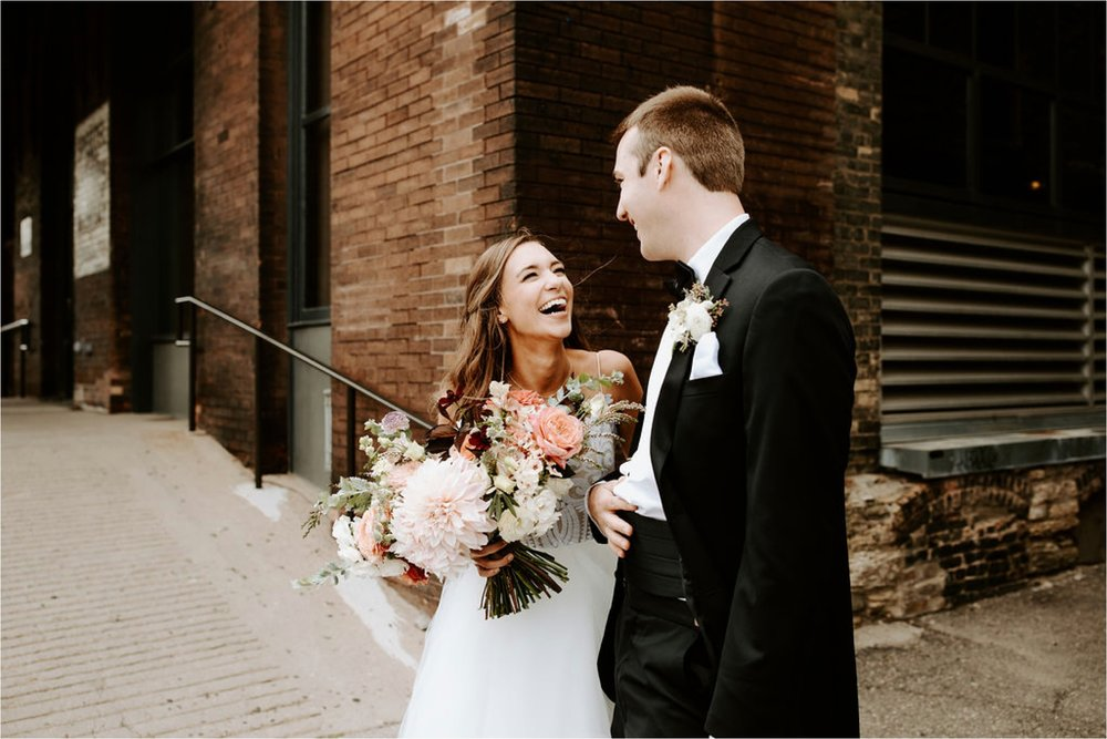 north loop wedding photographer bride and groom