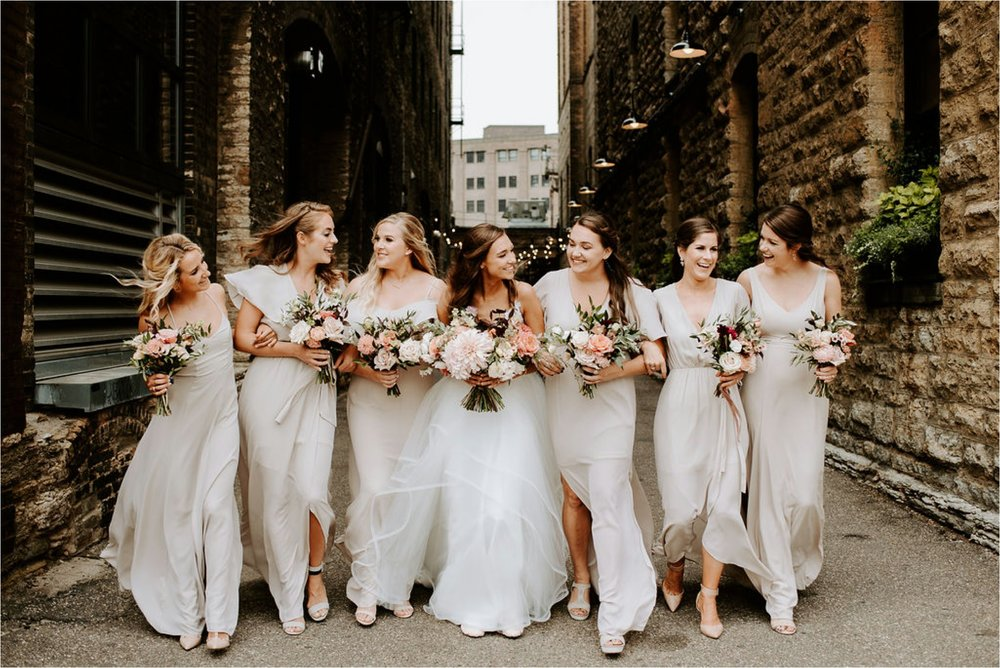 blush maven floral bridesmaid bouquets minneapolis florist north loop