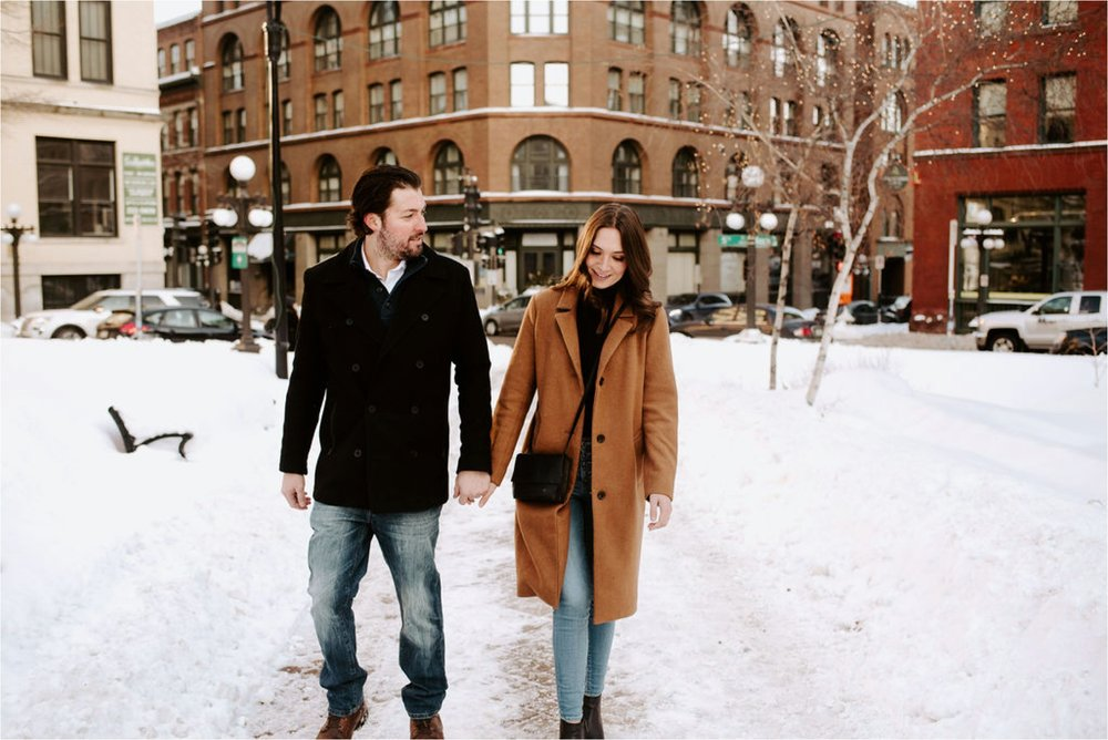 rice park st paul engagement session