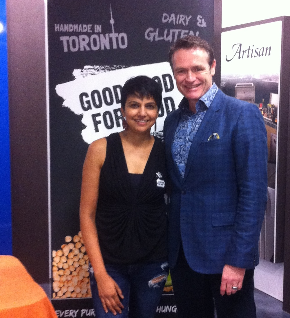 Richa Gupta with Glen Peloso at Distinctive Appliances Showroom